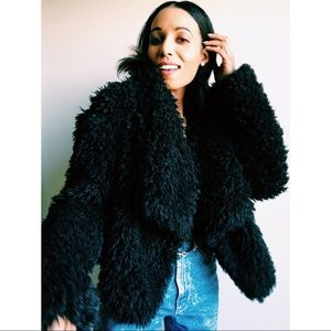 Faux Fur Cropped Over Coat